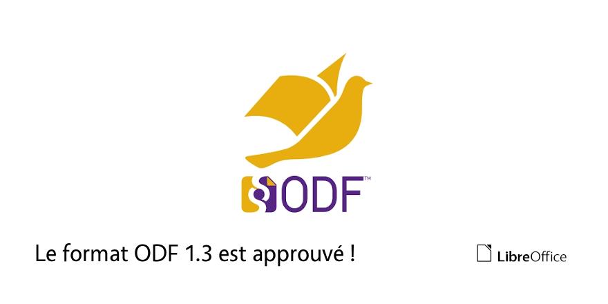 Le format ODF 1.3 est approuvé !